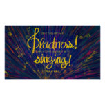 Serve the Lord with gladness bible verse Poster