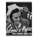 Serve Your Country Become a Nurse Postcard