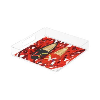 Served up shoes acrylic tray
