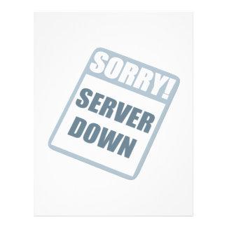 Server Down Flyer Design