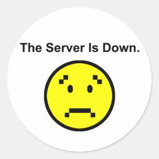 Server is Down Round Sticker