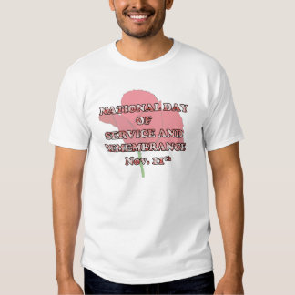 Service And Remembrance Remembrance Day T-Shirts