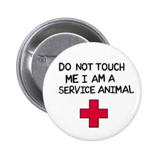 Service Animal 6 Cm Round Badge