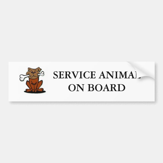 Service Animal Bumper Sticker