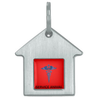 Service Animal Dog Tag With Medical Logo