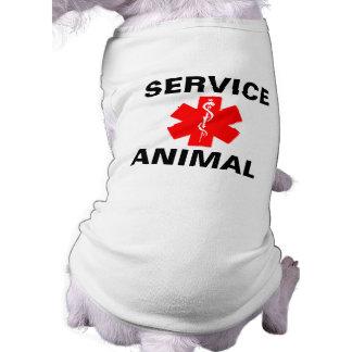 Service Animal Red Medical Alert Symbol Tank Top
