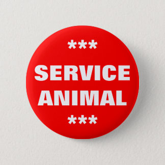 Service Animal Tag 6 Cm Round Badge