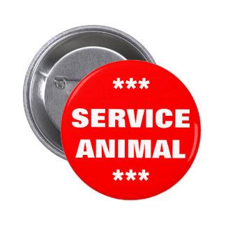 Service Animal Tag 6 Cm Round Badge