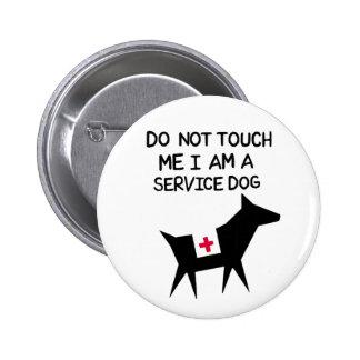 Service Dog 6 Cm Round Badge