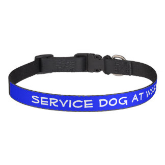 Service Dog At Work (medium) Pet Collar