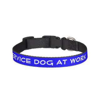 Service Dog At Work (small) Dog Collar