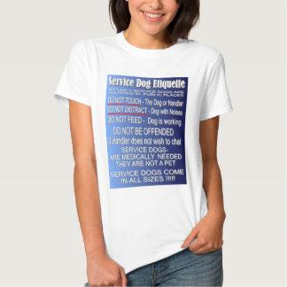Service Dog Etiquette - Basics T Shirt