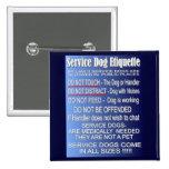 Service Dog Etiquette Buttons