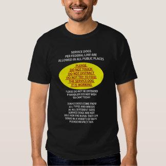 Service Dog Etiquette T Shirt