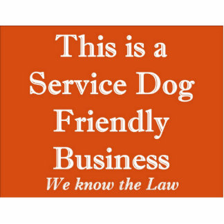 Service Dog Friendly Stand Up Sign Standing Photo Sculpture