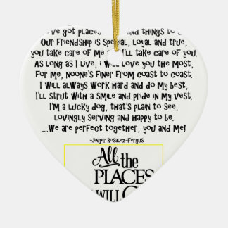 Service dog poem FNL BACK yellow Christmas Ornament