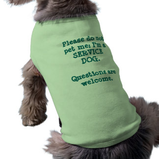 Service Dog/Questions Sleeveless Dog Shirt