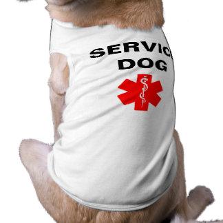 Service Dog Red Medical Alert Symbol T-Shirt Tank