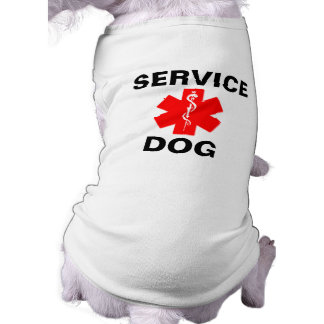 Service Dog Red Medical Alert Symbol T-Shirt Tank