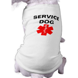 Service Dog Red Medical Alert Symbol T-Shirt Tank Sleeveless Dog Shirt