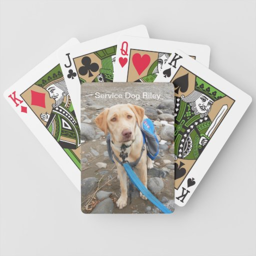 Service Dog Riley Playing Cards