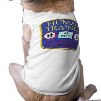 Service human sleeveless dog shirt