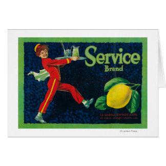 Service Lemon LabelLa Habra, CA Greeting Card