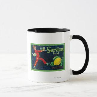 Service Lemon LabelLa Habra, CA Mug