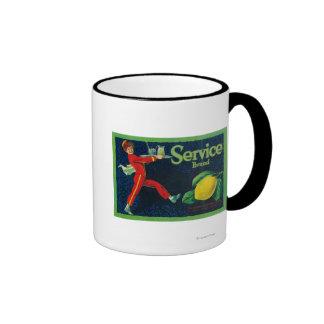 Service Lemon LabelLa Habra, CA Ringer Mug