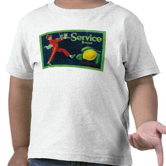 Service Lemon LabelLa Habra, CA Tshirt