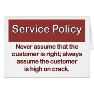 Service Policy Definition Note Card