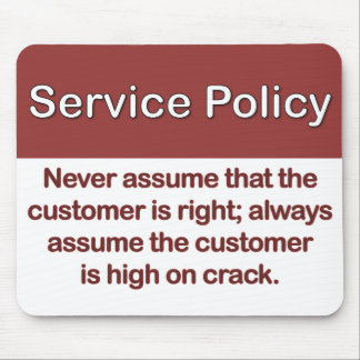 Service Policy Definition Mouse Mat