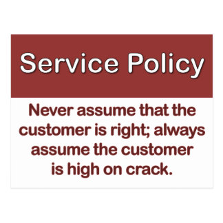 Service Policy Definition Postcard