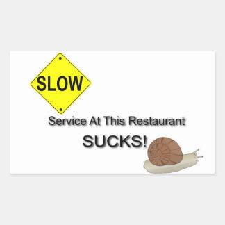 """""""Service Sucks"""" Rectangular Sticker"""