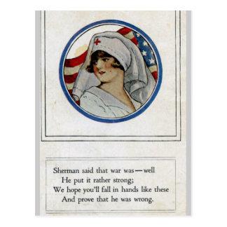 Serviceman Nurse Postcard