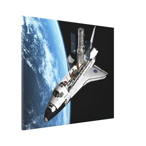 Servicing Hubble - Artistic Rendering Gallery Wrapped Canvas