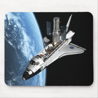 Servicing Hubble - Artistic Rendering Mouse Pad