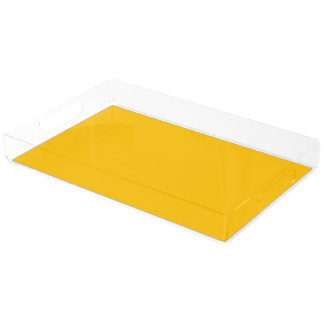 Serving Tray Acrylic Extra Large uni Yellow