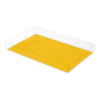 Serving Tray Acrylic Large uni Yellow