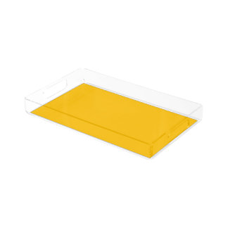 Serving Tray Acrylic Small uni Yellow