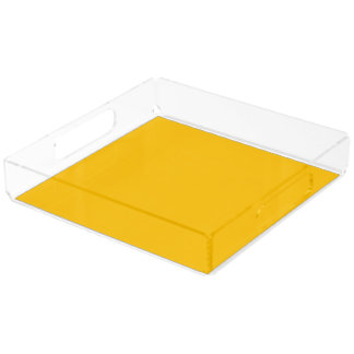 Serving Tray Acrylic Square Extra Large uni Yellow