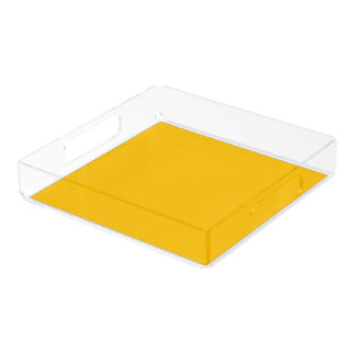 Serving Tray Acrylic Square Large uni Yellow