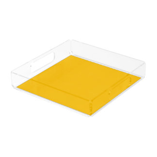 Serving Tray Acrylic Square Medium uni Yellow