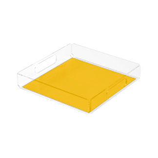 Serving Tray Acrylic Square Small uni Yellow