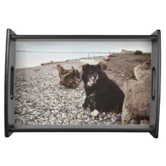 Serving Tray - Beach scene with dog