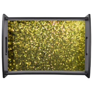 Serving Tray Gold Mosaic Sparkley Texture