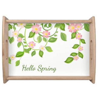 Serving Tray-Hello Spring Serving Tray