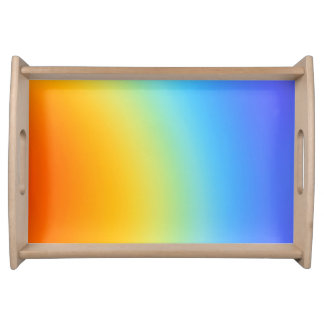 serving  tray in rainbow colours