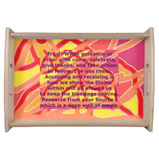 Serving Tray - Pink Chaos into Form & Quote