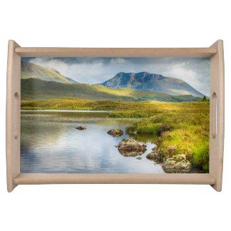 Serving tray Scottish Highlands landscape Scotland